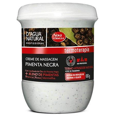 Creme Pimenta Negra Termo Ativador D'Água Natural