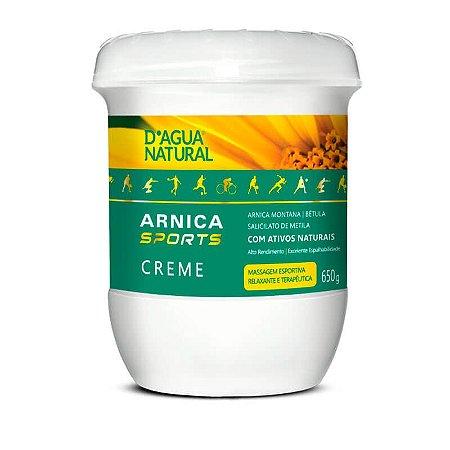 Creme de Massagem D'Água Natural Arnica Sports - 650g