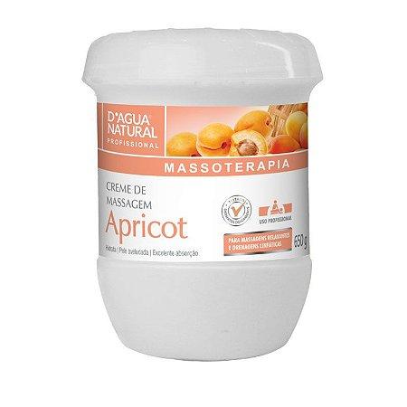 Creme de Massagem Hidratante Corporal Apricot D'Água Natural