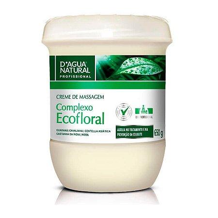 D'Água Natural Creme de Massagem Corporal Ecofloral