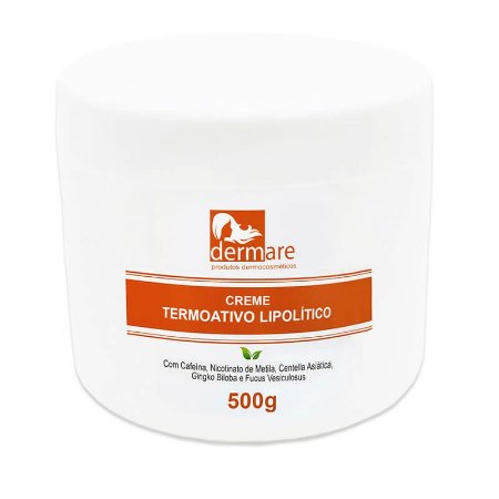 Creme Corporal Termo Ativo Lipolítico Dermare - 500g