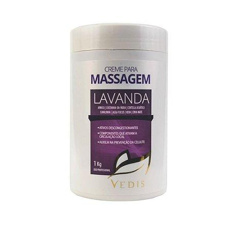 Creme Para Massagem Lavanda 1kg - Vedis