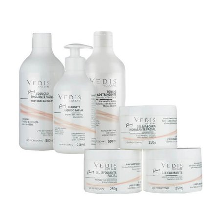 Kit Vedis Limpeza de Pele Profissional Face Care - 6 Itens