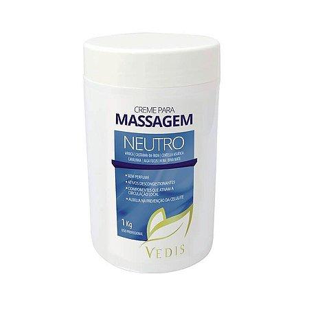 Creme de Massagem Neutro Sem Perfume 1kg - Vedis