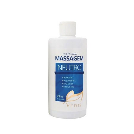 Óleo para Massagem Sem Perfume Neutro 500ml - Vedis