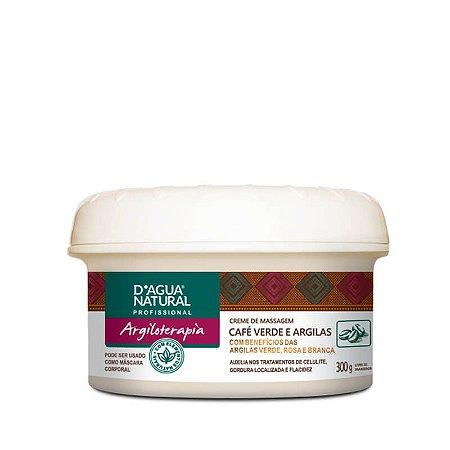 Creme de Massagem Café Verde e Argilas D'agua Natural  - 300g
