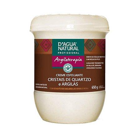 Creme Esfoliante  D'agua Natural Cristais de Quartzo e Argilas - 650g