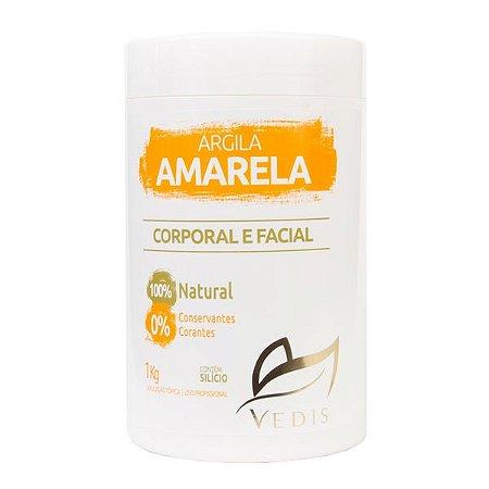 Argila Amarela Facial e Corporal Vedis 1kg