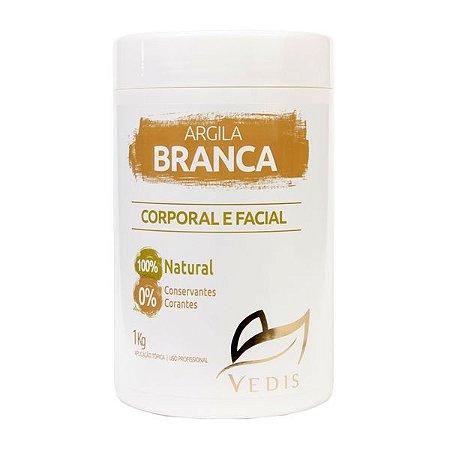 Argila Branca Vedis 1kg - 100% Natural