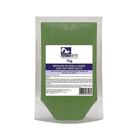 Argila Verde com Chá Verde Dermare - 1KG