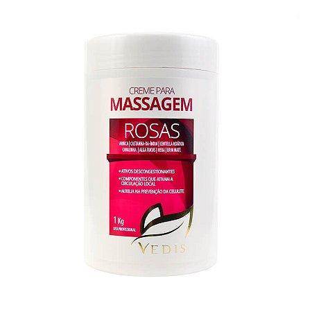Creme de Massagem Rosas 1KG - Rosas