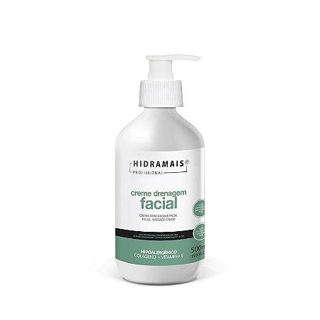Creme Drenagem Facial Hidramais Hipoalergênico - 500ml