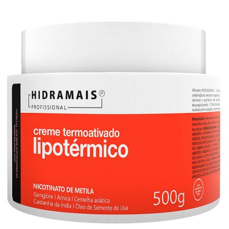 Creme Lipotérmico Termoativado Nicotinato de Metila Hidramais 500g