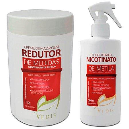 Kit Redutor de Medidas E Termo ativador Profissional Vedis Com 2 Itens