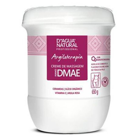 Creme D'agua Natural Para Massagem Flacidez Com DMAE Argiloterapia 650g