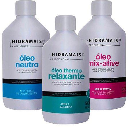 Kit Com 3 Óleos Para Drenagem E Massagem Relaxante Hidramais