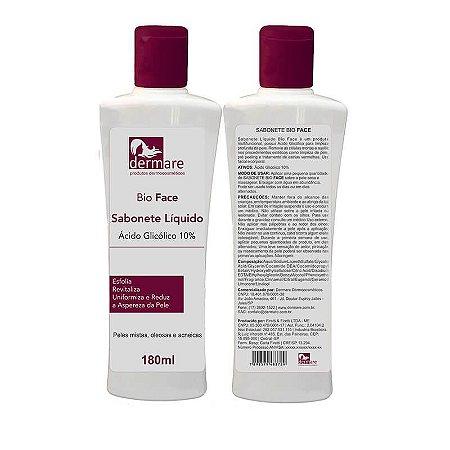 Sabonete Ácido Glicólico Bio Face Dermare 180ml