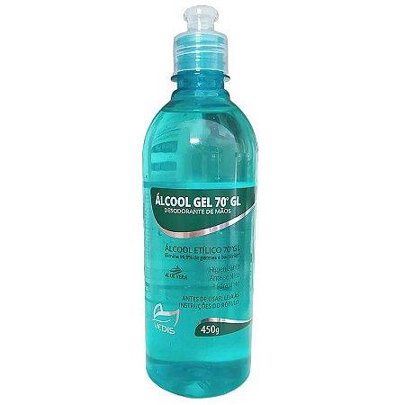 Álcool Gel Antisséptico e desodorante de mãos 70% 450g Vedis