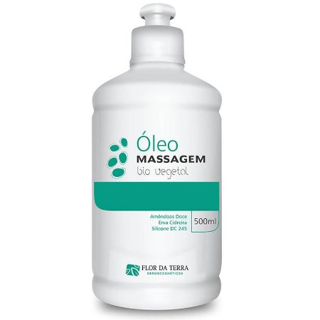 Óleo De Massagem Vegetal Amêndoas Doce Bio Vegetal 500ml Flor Da Terra