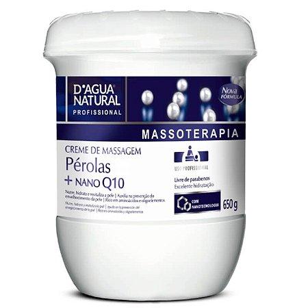 Creme De Massagem D´agua Natural Pérolas Nano Q10 650g