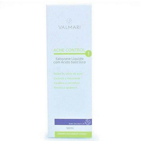 Sabonete Líquido Com Ácido Salicílico Acne Control 50ml Valmari