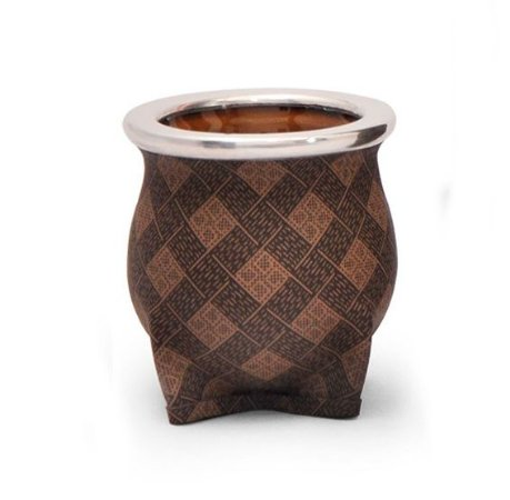 Cuia de Chimarrão Cerâmica Rombos Beige Lincoln's