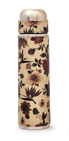 Garrafa Térmica 1l Flores Marrons Lincoln's
