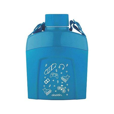 Cantil Térmico Infantil Azul Claro 600ml Aladdin
