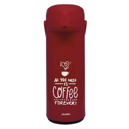 Garrafa Térmica Aladdin 1l Pressão Vermelha Coffee