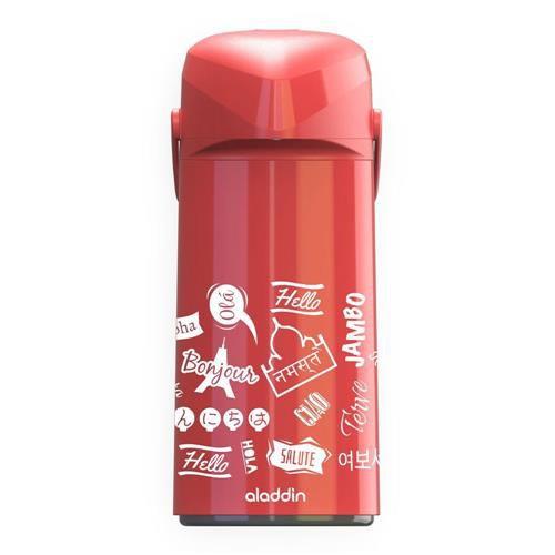 Garrafa Térmica Massima Hello Aladdin 1,8l Pressão -Vermelha