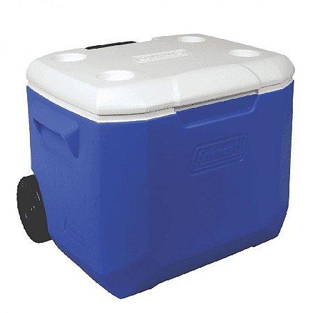 Caixa Térmica 60QT - 56,7L Azul C/Rodas Coleman