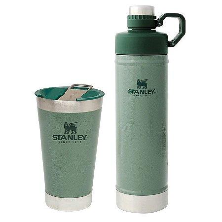 Combo Copo 473ml+Garrafa Térm Hydration Verde 750ml Stanley