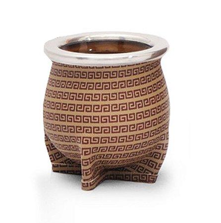 Cuia de Chimarrão Cerâmica Cadena Marrón Lincoln's