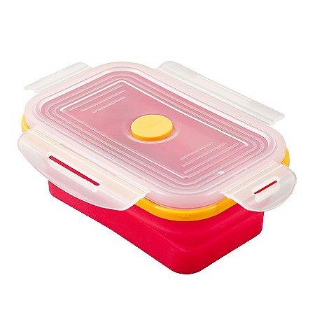 Pote Retrátil Lunchbox Yuze Rosa