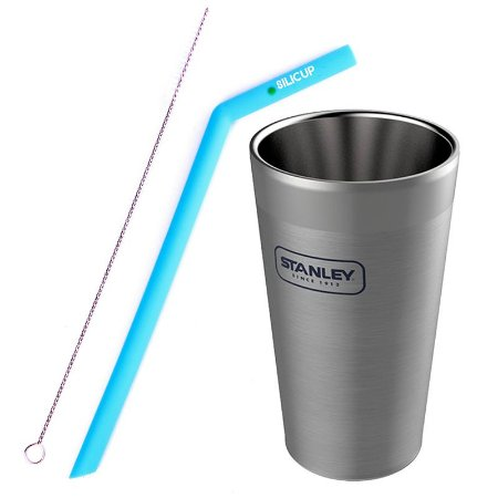 Combo Copo Cerveja 473ml Stanley+Canudo Silicone Silicup