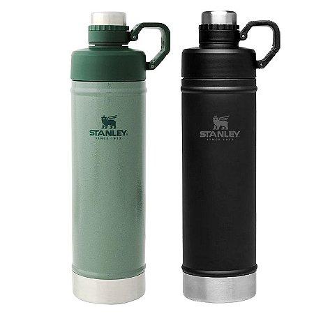 Combo 2 Garrafa Térmica Hydration Preta/Verde 750ml Stanley