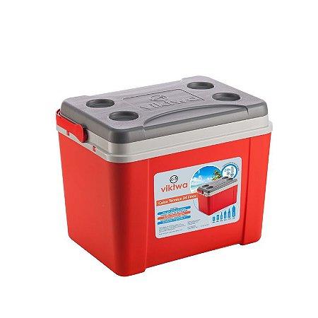Caixa Térmica 34 litros Vermelha - Viktwa