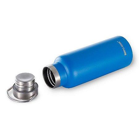 Garrafa Térmica com Alça Viktwa Simple Drink 500ml Azul