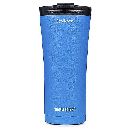 Copo Térmico Long Simple Drink 500ml Azul Viktwa