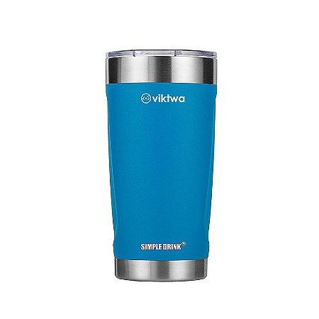Copo Térmico Duo Simple Drink 540ml Azul Viktwa