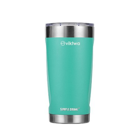 Copo Térmico Duo Simple Drink 540ml Verde Viktwa