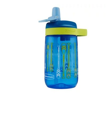 Garrafa Squeeze Infantil Rubbermaid Kids Leak Proof Sip Azul