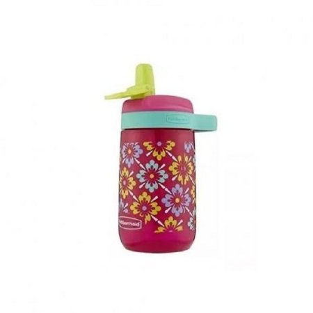 Garrafa Squeeze Infantil Rubbermaid Kids Leak Proof Sip Rosa