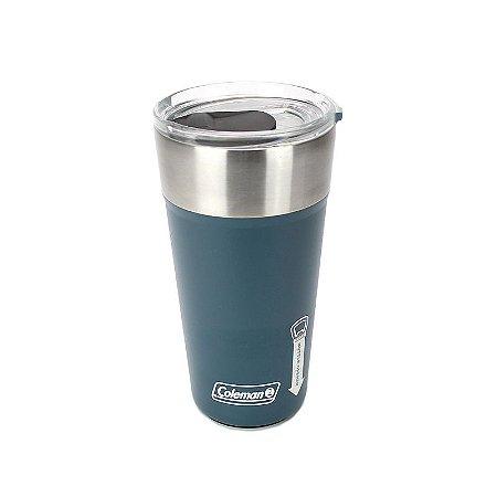 Copo Térmico de Cerveja 591ML com Abridor Coleman Azul