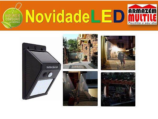 ARANDELA BALIZADOR SOLAR 10W LED A PROVA D'AGUA