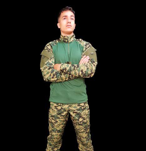 DIGITAL WOODLAND - Conjunto Combat Shirt + Calça Tática