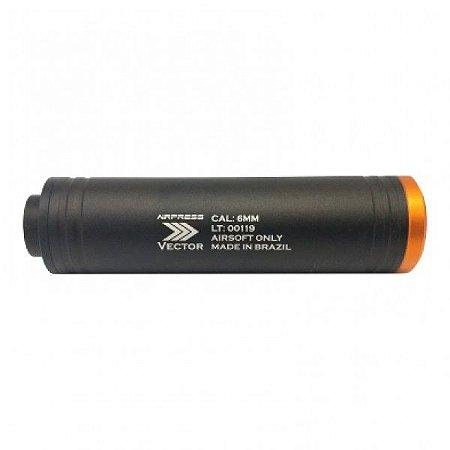 SILENCIADOR 35 X 140mm ROSCA ESQUERDA - AIRPRESS VECTOR