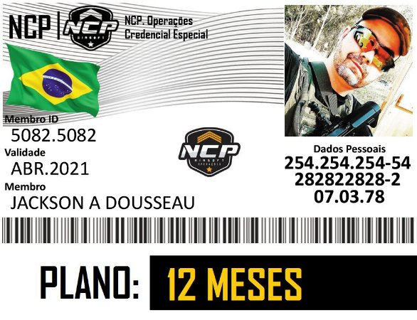 CREDENCIAL NCP AIRSOFT 1 ANO