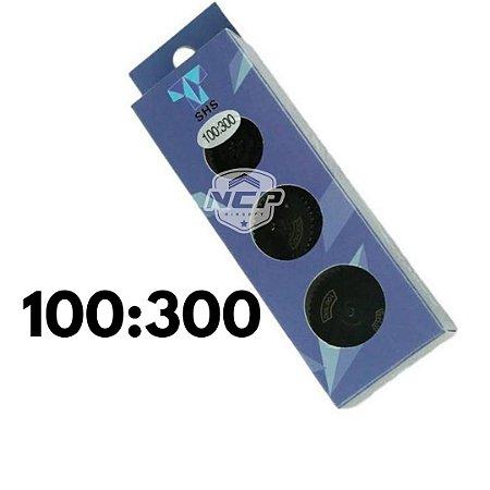 Kit Engrenagem Hi-torque 100:300 Aço Airsoft V2 V3 Aeg Up SHS HELICOIDAL