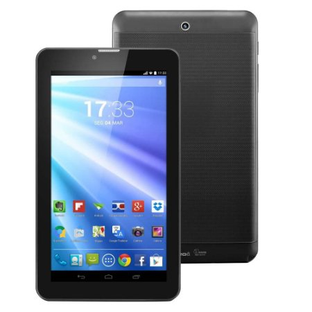 """Tablet Multilaser M-PRO 3G com Dual Chip, Tela 7"""", 8GB, Wi-Fi, Android 4.2, Dual Core - Preto"""